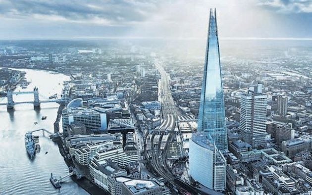 View from the Shard and Sunday two course Carvery Lunch at the Strand Palace Hotel: Sunday 31st March