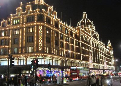 Harrods and Christmas lights: Friday 11th December.