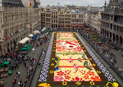 Brussels Carpet of Flowers: Friday 14th – Monday 17th August.