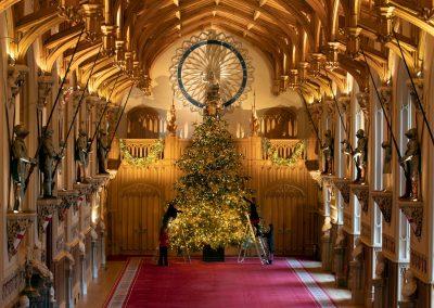 Windsor Castle dressed for Christmas: Thursday 2nd December